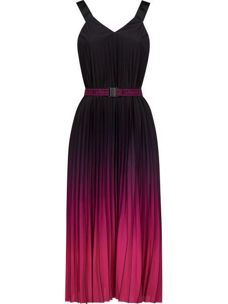 Платье с поясом - черное Armani Exchange