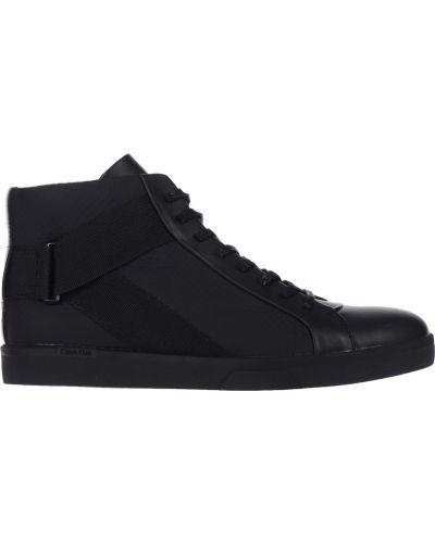 Кеды черные кожаный Calvin Klein