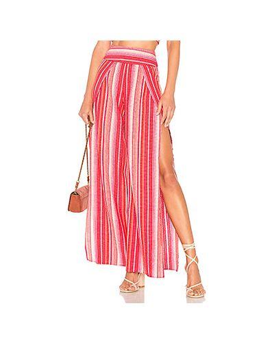 Свободные брюки с запахом красный Ale By Alessandra