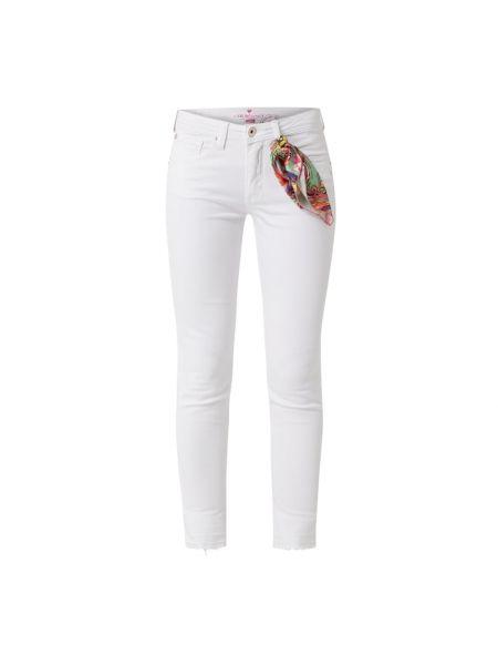 Białe mom jeans bawełniane Lieblingsstück