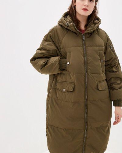 Зимнее пальто зеленое пальто Ichi