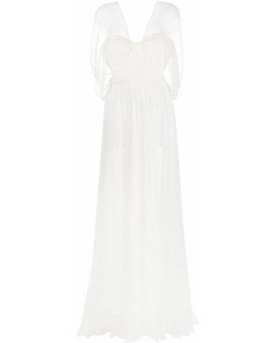 Вечернее платье короткое - белое Maria Lucia Hohan