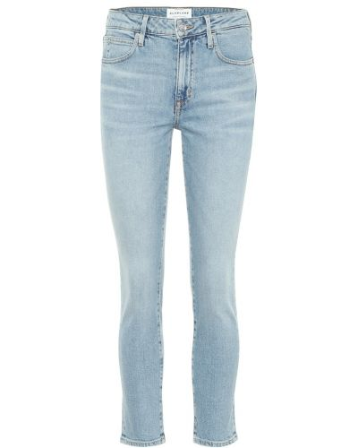 Ватные хлопковые синие укороченные джинсы Slvrlake