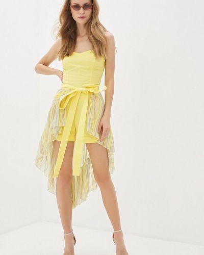 Комбинезон с шортами - желтый L1ft