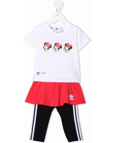 Biały dres krótki rękaw Adidas Kids