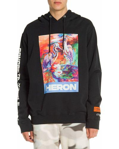 Bluza bawełniana - czarna Heron Preston