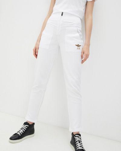Белые спортивные брюки Aeronautica Militare