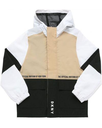 Нейлоновая куртка на молнии эластичная Dkny
