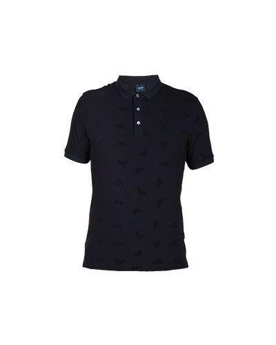 Черное поло Armani Jeans