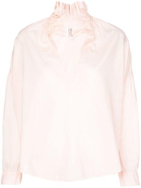 Розовый топ с оборками на пуговицах свободного кроя A Shirt Thing