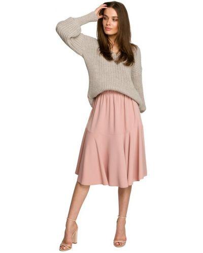 Spódnica z falbanami - różowa Style
