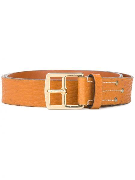 Оранжевый кожаный ремень с пряжкой Gianfranco Ferre Pre-owned