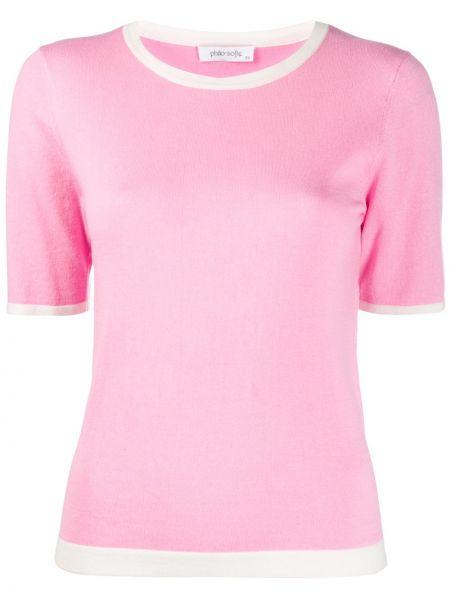 Нейлоновый розовый топ Philo-sofie