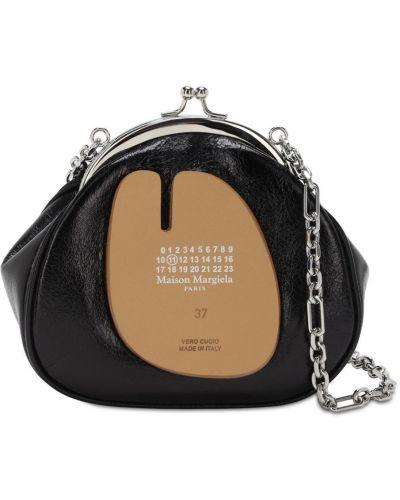 Czarny torebka na łańcuszku skórzany Maison Margiela