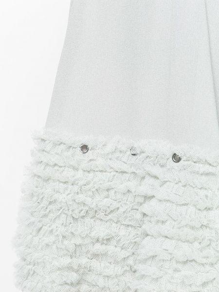 Серые хлопковые с завышенной талией шорты Chloé