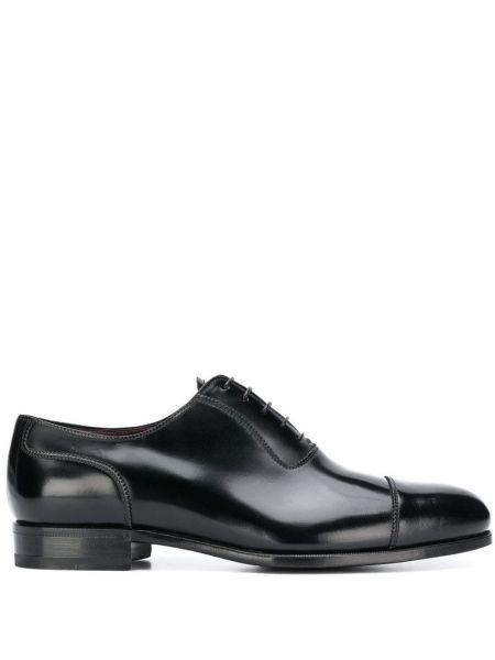 Черные кожаные туфли на шнурках Lidfort