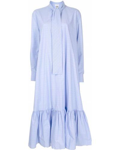 Платье макси длинное - синее Comme Des Garçons Noir Kei Ninomiya