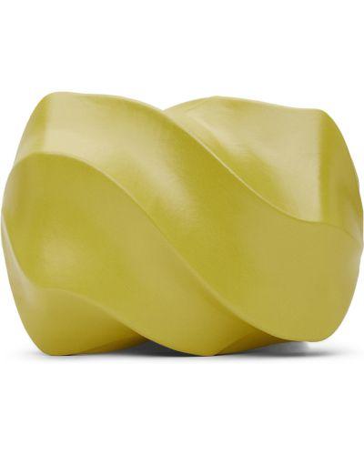 Złota kopertówka - zielona Bottega Veneta