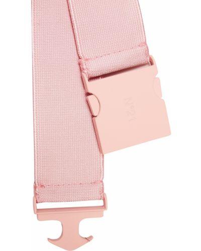 Розовый ремень с пряжкой с поясом из вискозы No.21