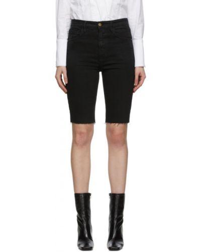 Черные джинсовые шорты с карманами винтажные Frame