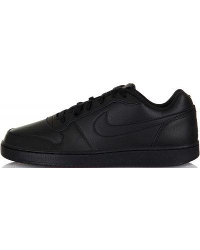 Низкие кеды черные кожаный Nike