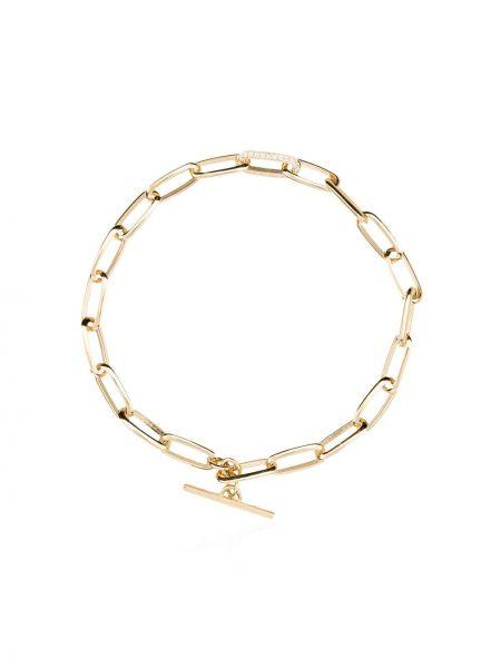 Золотистый желтый золотой браслет на пуговицах с бриллиантом Lizzie Mandler Fine Jewelry