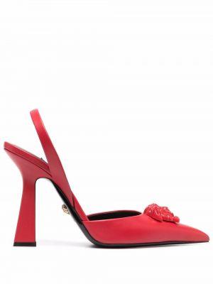 Туфли на каблуке - красные Versace