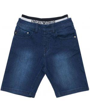 Jeansy na gumce z logo Emporio Armani