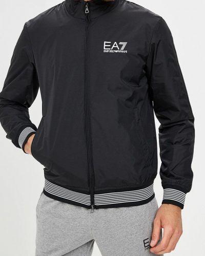Джинсовая куртка утепленная осенняя Ea7
