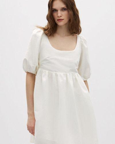 Прямое белое платье А-силуэта Lime