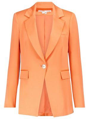 Сатиновый оранжевый пиджак Veronica Beard