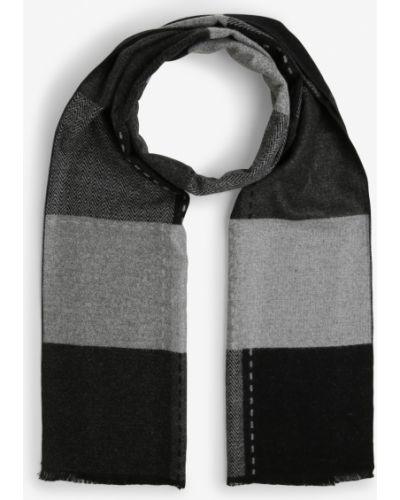 Czarny szalik z frędzlami Finshley & Harding