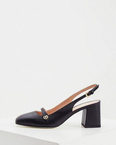 Кожаные туфли - черные Pollini