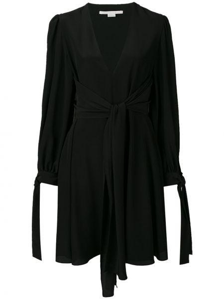 Шелковое платье макси - черное Stella Mccartney