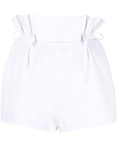 Хлопковые белые с завышенной талией шорты Alexandre Vauthier