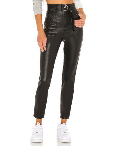 Skórzany czarny majtki z kieszeniami w połowie kolana Superdown
