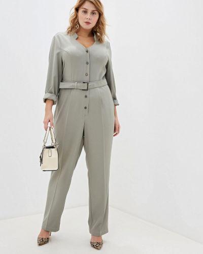 Брючный комбинезон - зеленый авантюра Plus Size Fashion