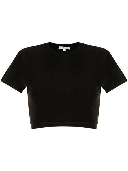 Czarna koszulka krótki rękaw Miaou