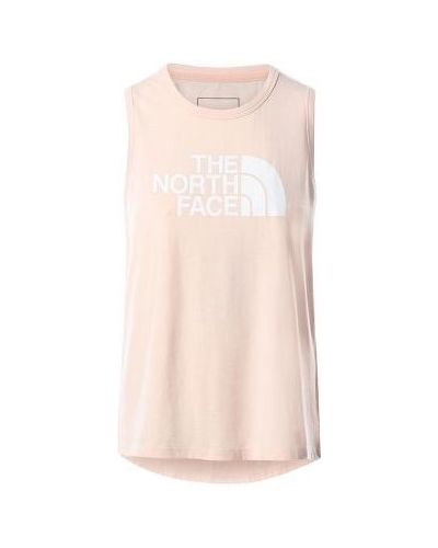 Różowa koszulka bawełniana The North Face