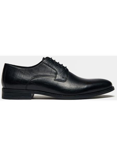 Кожаные деловые черные классические туфли с рисунком Ralf Ringer