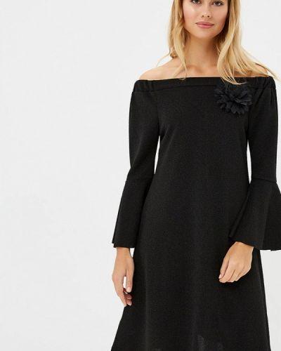 Платье с открытыми плечами осеннее Perfect J