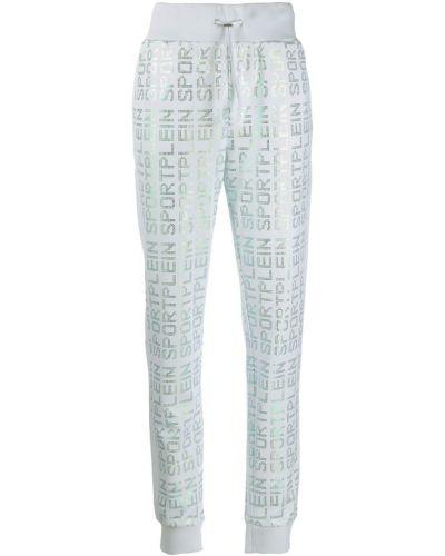 Спортивные брюки с поясом с манжетами в рубчик Plein Sport