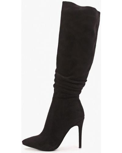 Велюровые черные сапоги Diora.rim