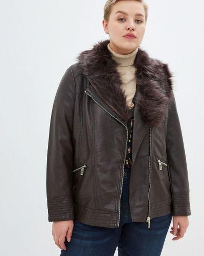 Кожаная куртка осенняя коричневая Evans
