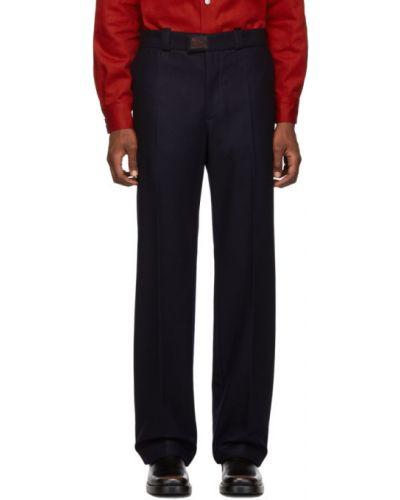Шерстяные прямые классические брюки с карманами Raf Simons