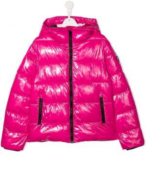 С рукавами розовая куртка с капюшоном на молнии Rossignol Kids