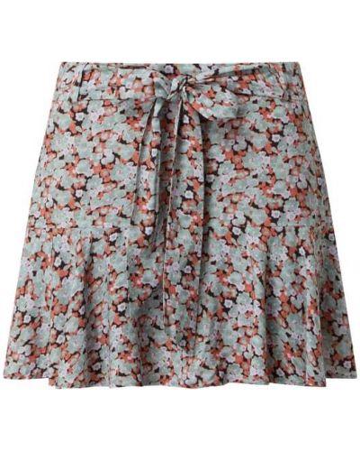 Zielona spódnica mini rozkloszowana z falbanami Review