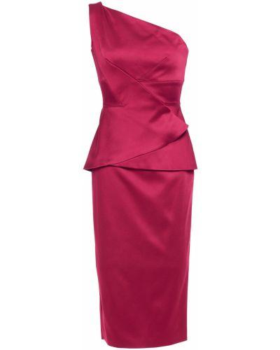 Плиссированное платье из вискозы Roland Mouret