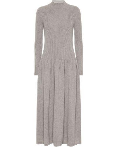 Платье миди классическое - бежевое Agnona