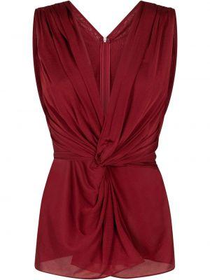 Шелковая красная блузка без рукавов Dolce & Gabbana